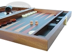 picture of Zaza & Sacci® Folding Wood Backgammon Set - Model ZS-008 - Large - Leather/Mahogany (6 of 12)