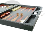 picture of Zaza & Sacci® Leather Backgammon Set - Model ZS-200 - Travel - Black (6 of 11)