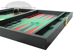 picture of Zaza & Sacci Leather/Microfiber Backgammon Set - Model ZS-425 - Black (6 of 12)