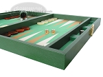 picture of Zaza & Sacci® Leather/Microfiber Backgammon Set - Model ZS-425 - Green (6 of 12)