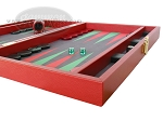 picture of Zaza & Sacci® Leather/Microfiber Backgammon Set - Model ZS-425 - Red (6 of 12)