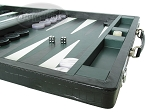 picture of Marcello de Modena Leather Backgammon Set - Model MM-621 - Large - Croco Black (6 of 12)
