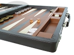 picture of Marcello de Modena Leather Backgammon Set - Model MM-642 - Large - Brown (6 of 12)