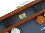 picture of Zaza & Sacci Leather/Microfiber Backgammon Set - Model ZS-425 - Brown (7 of 12)