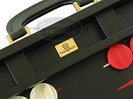 picture of Zaza & Sacci® Leather Backgammon Set - Model ZS-501 - Medium - Black (7 of 12)