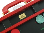 picture of Zaza & Sacci Leather Backgammon Set - Model ZS-501 - Medium - Red (7 of 12)