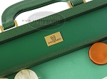 picture of Zaza & Sacci® Leather/Microfiber Backgammon Set - Model ZS-760 - Large - Green (7 of 12)