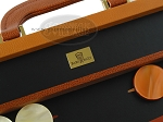 picture of Zaza & Sacci Leather Backgammon Set - Model ZS-888 - Large - Brown (7 of 12)