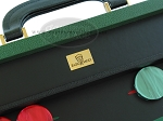 picture of Zaza & Sacci® Leather Backgammon Set - Model ZS-888 - Large - Green (7 of 12)