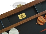 picture of Zaza & Sacci® Folding Wood Backgammon Set - Model ZS-008 - Large - Leather/Mahogany (7 of 12)