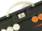 picture of Zaza & Sacci® Leather Backgammon Set - Model ZS-200 - Travel - Black (7 of 11)