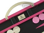 picture of Zaza & Sacci® Leather Backgammon Set - Model ZS-200 - Travel - Pink (7 of 12)