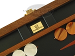 picture of Zaza & Sacci® Folding Wood Backgammon Set - Model ZS-004 - Medium - Leather/Mahogany (7 of 12)