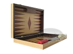 picture of 19-inch Inlaid Oak Folding Wood Backgammon Set - Red (7 of 10)
