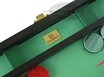 picture of Zaza & Sacci Leather/Microfiber Backgammon Set - Model ZS-425 - Black (7 of 12)