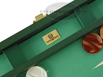 picture of Zaza & Sacci Leather/Microfiber Backgammon Set - Model ZS-425 - Green (7 of 12)