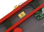 picture of Zaza & Sacci® Leather/Microfiber Backgammon Set - Model ZS-425 - Red (7 of 12)