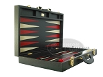 picture of Zaza & Sacci Leather Backgammon Set - Model ZS-501 - Medium - Black (8 of 12)