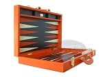 picture of Zaza & Sacci® Leather Backgammon Set - Model ZS-501 - Medium - Orange (8 of 12)