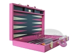 picture of Zaza & Sacci® Leather Backgammon Set - Model ZS-501 - Medium - Pink (8 of 12)