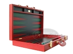 picture of Zaza & Sacci Leather Backgammon Set - Model ZS-501 - Medium - Red (8 of 12)