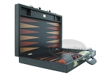 picture of Zaza & Sacci® Leather Backgammon Set - Model ZS-612 - Large - Black (8 of 12)