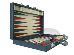 picture of Zaza & Sacci® Leather Backgammon Set - Model ZS-612 - Large - Blue (8 of 12)