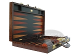 picture of Zaza & Sacci Leather Backgammon Set - Model ZS-612 - Large - Brown Croco (8 of 12)