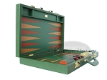 picture of Zaza & Sacci® Leather Backgammon Set - Model ZS-612 - Large - Green (8 of 12)