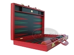 picture of Zaza & Sacci Leather Backgammon Set - Model ZS-612 - Large - Red (8 of 12)