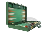 picture of Zaza & Sacci® Leather/Microfiber Backgammon Set - Model ZS-760 - Large - Green (8 of 12)