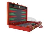 picture of Zaza & Sacci Leather/Microfiber Backgammon Set - Model ZS-760 - Large - Red (8 of 12)