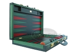 picture of Zaza & Sacci Leather Backgammon Set - Model ZS-888 - Large - Green (8 of 12)