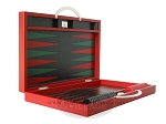 picture of Zaza & Sacci Leather Backgammon Set - Model ZS-200 - Travel - Red (8 of 12)