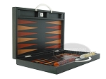 picture of Zaza & Sacci® Leather Backgammon Set - Model ZS-200 - Travel - Black (8 of 11)
