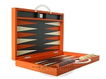 picture of Zaza & Sacci Leather Backgammon Set - Model ZS-200 - Travel - Orange (8 of 11)