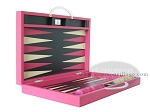picture of Zaza & Sacci Leather Backgammon Set - Model ZS-200 - Travel - Pink (8 of 12)