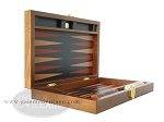 picture of Zaza & Sacci® Folding Wood Backgammon Set - Model ZS-004 - Medium - Leather/Mahogany (8 of 12)
