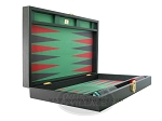 picture of Zaza & Sacci Leather/Microfiber Backgammon Set - Model ZS-425 - Black (8 of 12)