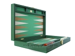 picture of Zaza & Sacci Leather/Microfiber Backgammon Set - Model ZS-425 - Green (8 of 12)