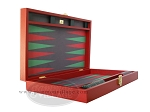 picture of Zaza & Sacci Leather/Microfiber Backgammon Set - Model ZS-425 - Red (8 of 12)