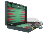 picture of Zaza & Sacci® Leather/Microfiber Backgammon Set - Model ZS-760 - Large - Black (8 of 12)