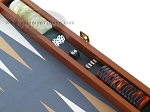 picture of Zaza & Sacci Leather/Microfiber Backgammon Set - Model ZS-425 - Brown (9 of 12)