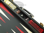 picture of Zaza & Sacci® Leather Backgammon Set - Model ZS-501 - Medium - Black (9 of 12)