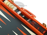 Zaza & Sacci® Leather Backgammon Set - Model ZS-501 - Medium - Orange