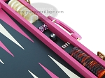 picture of Zaza & Sacci® Leather Backgammon Set - Model ZS-501 - Medium - Pink (9 of 12)