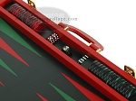 picture of Zaza & Sacci® Leather Backgammon Set - Model ZS-501 - Medium - Red (9 of 12)