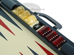 Zaza & Sacci® Leather Backgammon Set - Model ZS-612 - Large - Blue