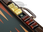 picture of Zaza & Sacci Leather Backgammon Set - Model ZS-612 - Large - Brown Croco (9 of 12)
