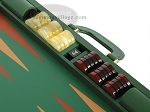 picture of Zaza & Sacci Leather Backgammon Set - Model ZS-612 - Large - Green (9 of 12)